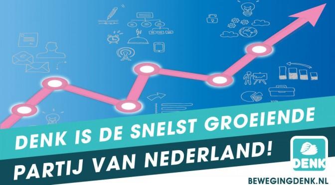 beweging denk snelst groeiende partij van nederland